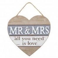 'Mr & Mrs' Large Hanging Heart